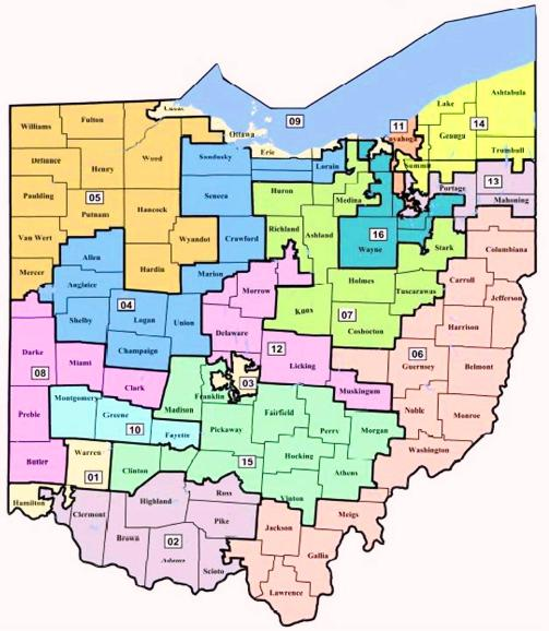 Ohio Congressional District Map 2012 Images